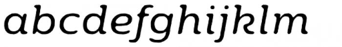 Moreno Rough Two Regular Italic Font LOWERCASE