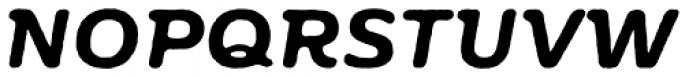 Moreno Rough Two Semi Bold Italic Font UPPERCASE