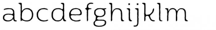 Moreno Rough Two Thin Font LOWERCASE