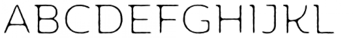 Moreno Rough Two XThin Font UPPERCASE