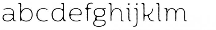 Moreno Rough Two XThin Font LOWERCASE