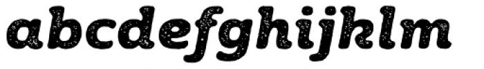 Moreno Rust Two Bold Italic Font LOWERCASE