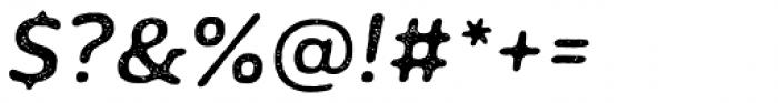 Moreno Rust Two Medium Italic Font OTHER CHARS