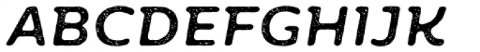 Moreno Rust Two Medium Italic Font UPPERCASE