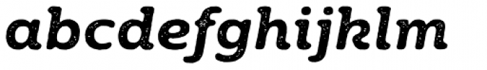 Moreno Rust Two Semi Bold Italic Font LOWERCASE