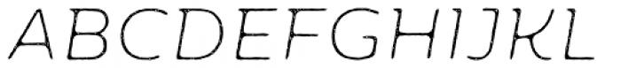 Moreno Rust Two XThin Italic Font UPPERCASE