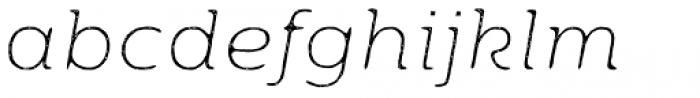 Moreno Rust Two XThin Italic Font LOWERCASE