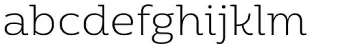 Moreno Thin Font LOWERCASE
