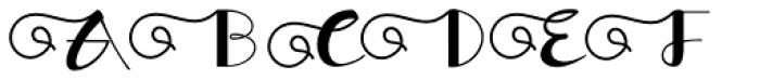 Morgana Script Regular Font UPPERCASE