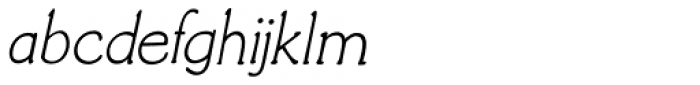 Morgenfrisk Italic Font LOWERCASE