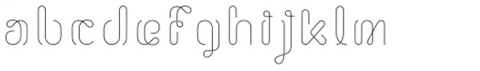Morice Straight Font LOWERCASE