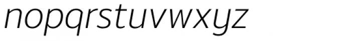 Moris Light Italic Font LOWERCASE