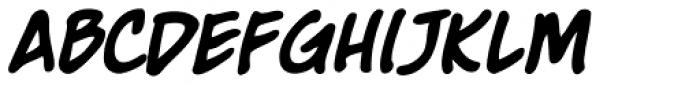 Moritat Bold Italic Font LOWERCASE