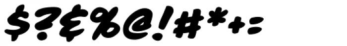 Moritat Heavy Italic Font OTHER CHARS