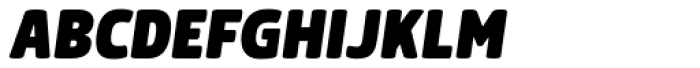 Morl Black Italic Font UPPERCASE