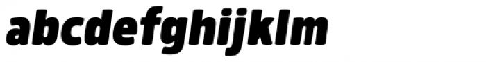 Morl Black Italic Font LOWERCASE