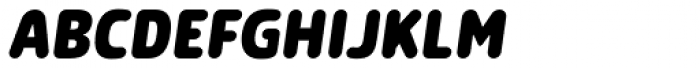 Morl Rounded Extra Bold Italic Font UPPERCASE