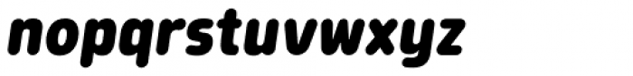 Morl Rounded Extra Bold Italic Font LOWERCASE