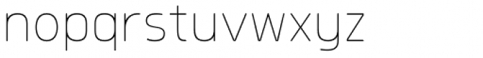 Morl Rounded Thin Font LOWERCASE
