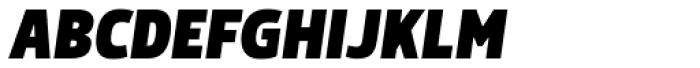Morl Sans Black Italic Font UPPERCASE