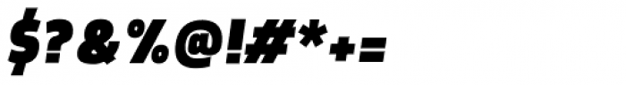 Morl Sans Extra Black Italic Font OTHER CHARS