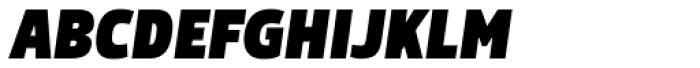 Morl Sans Extra Black Italic Font UPPERCASE