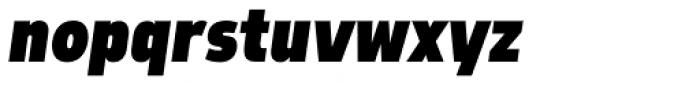 Morl Sans Extra Black Italic Font LOWERCASE