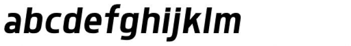 Morl Sans Italic Font LOWERCASE