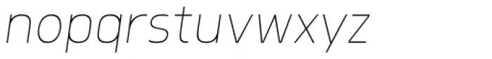 Morl Sans Thin Italic Font LOWERCASE