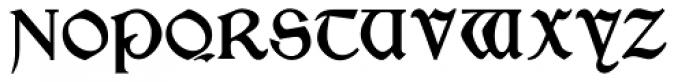 Morris Gothic Font UPPERCASE
