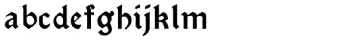 Morris Gothic Font LOWERCASE
