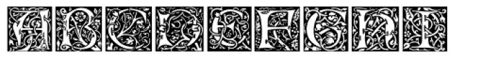 Morris Initials One Font UPPERCASE