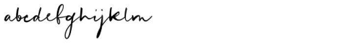 Mortdecai Script Regular Font LOWERCASE
