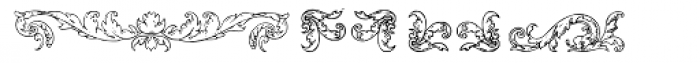 Mortised Ornaments Two Font UPPERCASE
