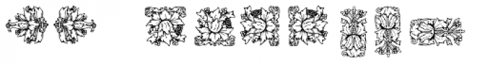 Mortised Ornaments Two Font LOWERCASE