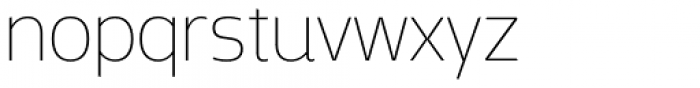 Mosse Extra Light Font LOWERCASE