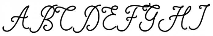 Motherline Regular Font UPPERCASE