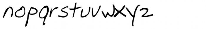 Mother's Hand Font LOWERCASE
