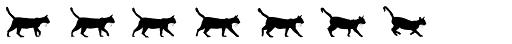 MotionBats Cat Black Font LOWERCASE