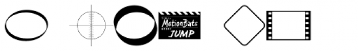 MotionBats Jump Black Font OTHER CHARS