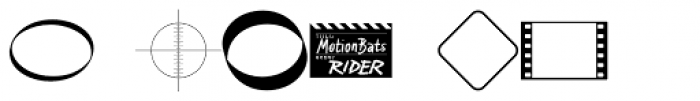 MotionBats Rider Bold Font OTHER CHARS
