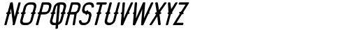 Motopica Italic Font LOWERCASE