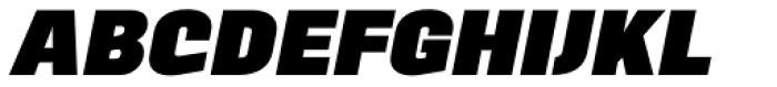 Motora Sans UltraBold Italic Font UPPERCASE