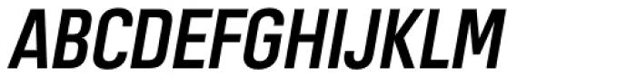 Motorway Semi Bold Italic Font UPPERCASE