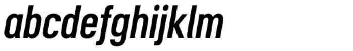 Motorway Semi Bold Italic Font LOWERCASE