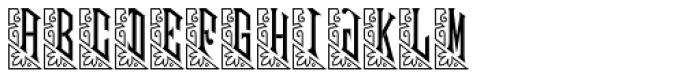Mouchoir Monogram (10000 Impressions) Font UPPERCASE