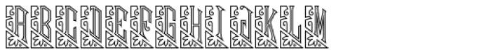 Mouchoir Monogram Outline (25000 Impressions) Font UPPERCASE