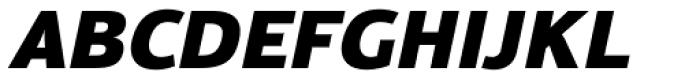 Moveo Sans Black Italic Font UPPERCASE
