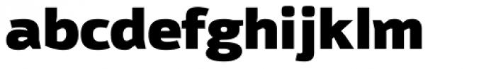 Moveo Sans Black Font LOWERCASE