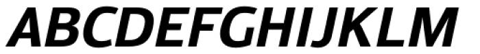 Moveo Sans Bold Italic Font UPPERCASE